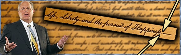 Image result for rush limbaugh Declaration of Independence