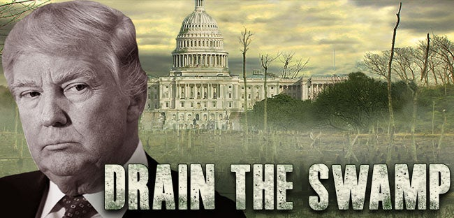 Image result for trump draining the swamp