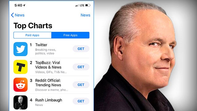 We Ve Taken The App Store By Storm The Rush Limbaugh Show