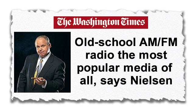 Nielsen: Radio Rules the Media World | Rush Limbaugh | iHeartRadio