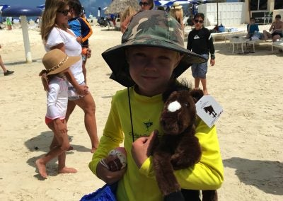 LIBERTY PLUSH HANGS OUT IN OCEAN REEF AT A SPECIAL NAVY SEAL EVENT! ADORABLE!