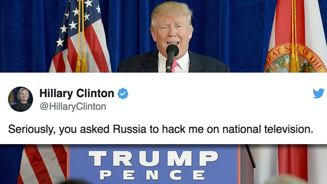 Partner Content - Humorless Hillary Still Carping About Trump Joke on the Russians