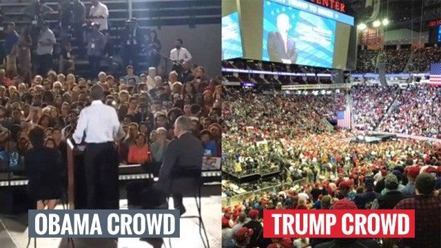 Partner Content - Obama's Crowd vs. Trump's Crowd