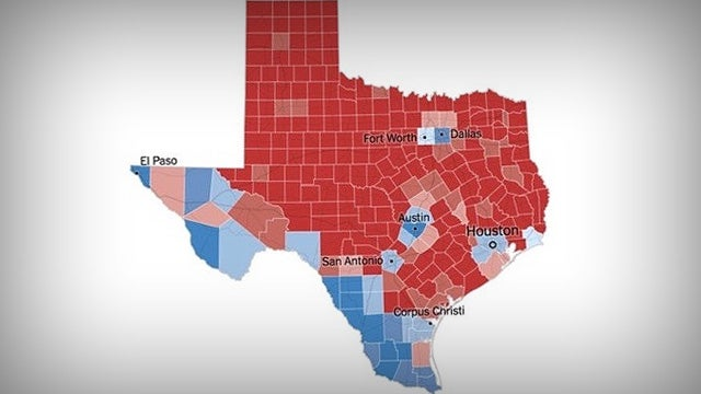 Map If Texas Texas Electoral Map Shows Us What We're Up Against | Rush Limbaugh