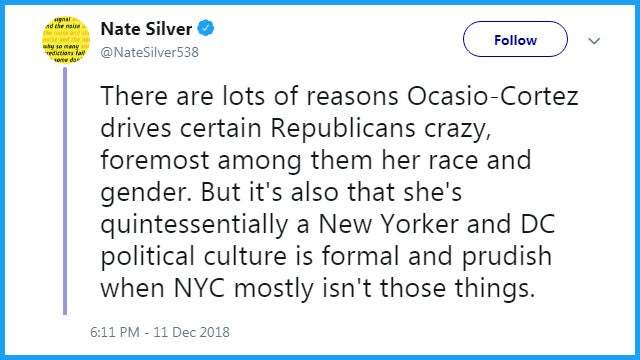 Partner Content - Nate Silver Says Ocasio-Cortez Critics Are Racists