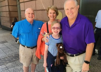 IT WAS SUCH A PLEASURE TO RUN INTO THIS RUSH REVERE FAN IN BOSTON…LIBERTY PLUSH IN HAND!