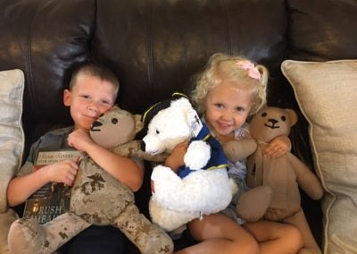 WE WERE HONORED TO WORK ALONGSIDE THE MATTHEW FREEMAN PROJECT PROVIDING TED-TEA BEARS TO THE FAMILY MEMBERS OF FALLEN HEROES.