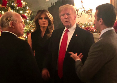 A LITTLE CONVERSATION WITH PRESIDENT TRUMP, FIRST LADY MELANIA AND DONALD TRUMP JR.