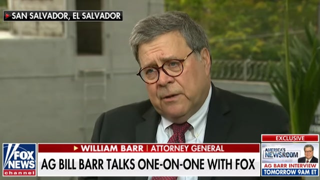 Image result for bill barr fox interview