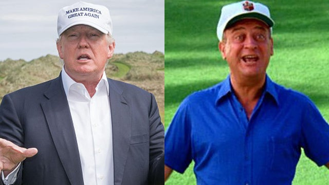 Partner Content - Donald Trump as Rodney Dangerfield in Caddyshack