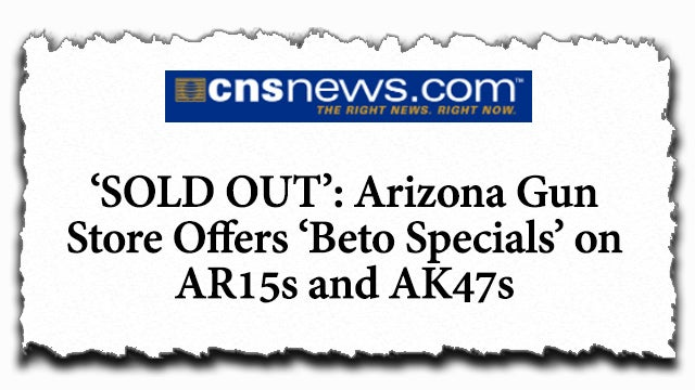 "Partner Content - Arizona Gun Store Sells Out on ""Beto Special"""