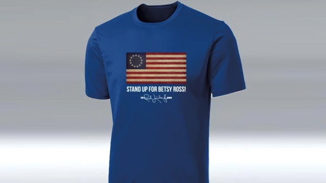 Partner Content - Never Give Up, Folks! The Stand Up for Betsy Ross T-Shirt in Royal Blue