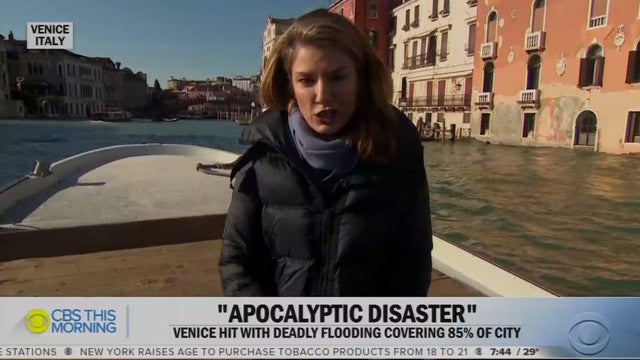 Partner Content - CBS News Blames Venice Flood on Climate Change