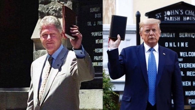Image result for clinton with a bible